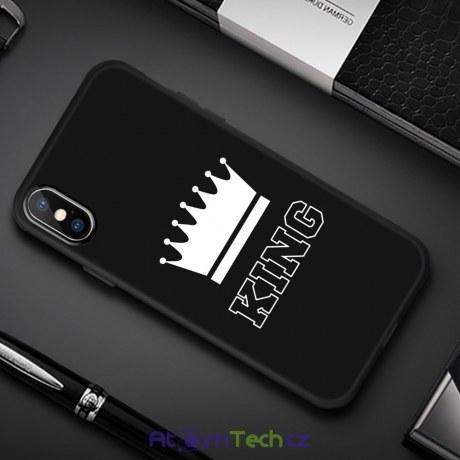 Černý kryt pro iPhone KING
