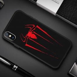 Černý kryt pro iPhone Red Spider