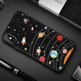 Černý kryt pro iPhone Sluneční soustava