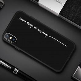 Černý kryt pro iPhone Simple