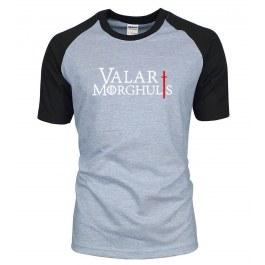 """Tričko """"Valar Morghulis"""" s černými rukávy"""