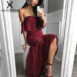 Dvoudílné šaty s krajkou
