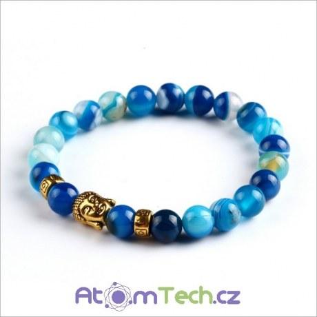 BUDDHA modrý mořský náramek