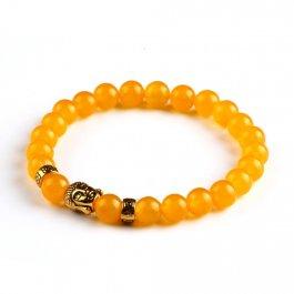 BUDDHA oranžový náramek