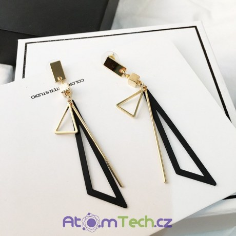 Krásné trojúhelníkové náušnice