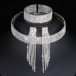 Luxusní zářivý komplet šperků