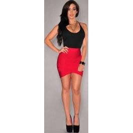 Sexy černo-červené šaty