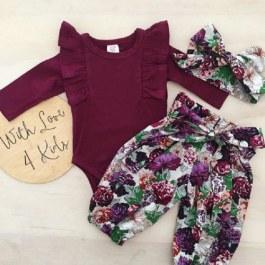 Vínové body s květinovými kalhotami