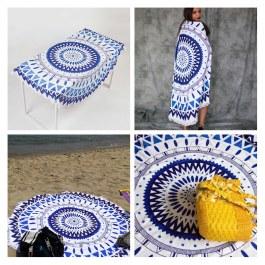 Plážová kruhová deka