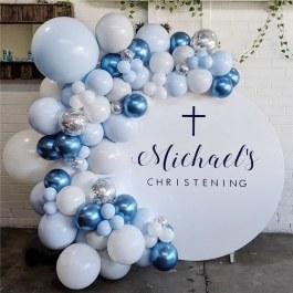 100 ks balonků modrých odstínů