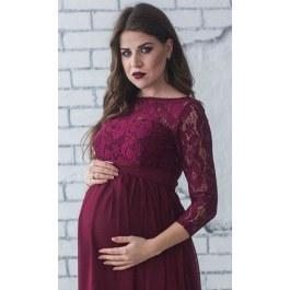 Těhotenské šaty s krajkou