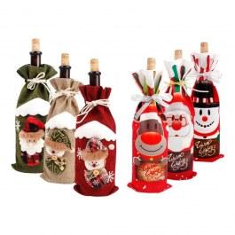 Vánoční obal na víno