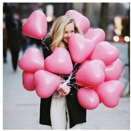 Balonky ve tvaru srdce