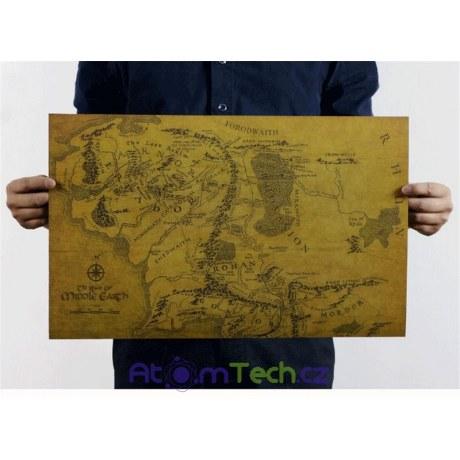 Plakát Mapa Středozemě
