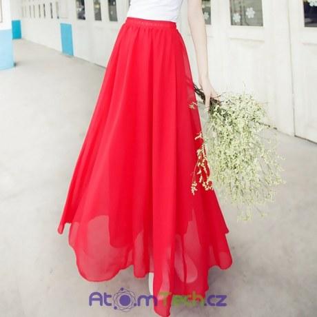 Maxi šifonová sukně (12 barev)