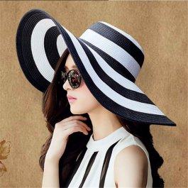 Letní proužkovaný klobouk