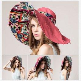 Oboustranný barevný klobouk