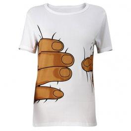 Vtipné tričko s rukou