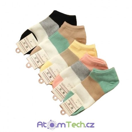 5 párů pruhovaných ponožek