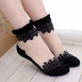 Originální krajkové ponožky