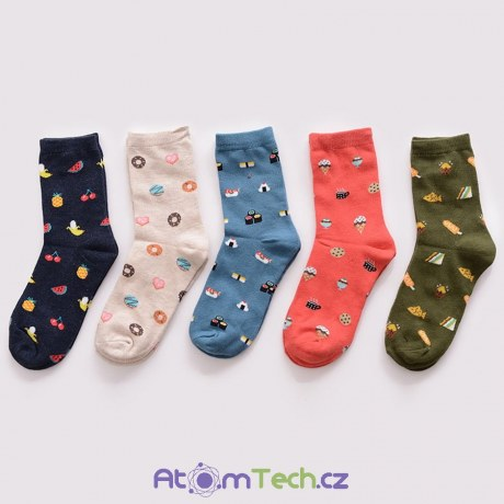 Ponožky s motivem jídla 68ff3af278