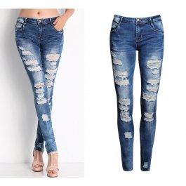 Stylové potrhané džíny