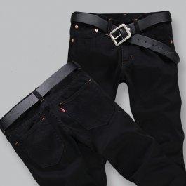 Černé pánské kalhoty