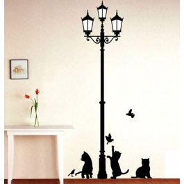 Samolepka lampa