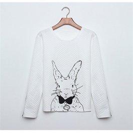 Prošívaná mikina Bílý králik