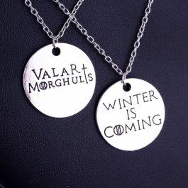 Dva náhrdelníky Game of Thrones