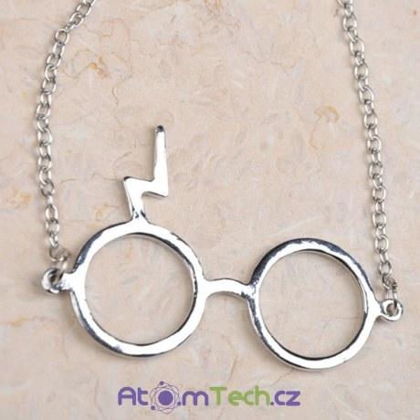 Náhrdelník s brýlemi Harry Potter