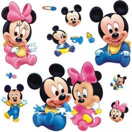 Samolepky na zeď Mickey a Minnie
