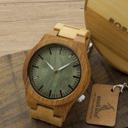 Pánské bambusové hodinky