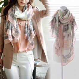 Elegantní dámský šátek s potiskem