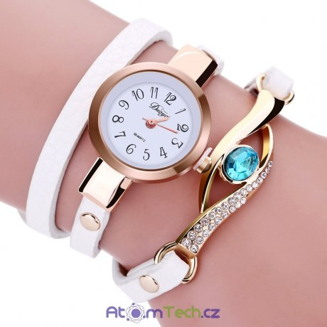 Náramkové hodinky s kamínkem