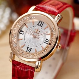 Dámské hodinky se zlatými krystalky