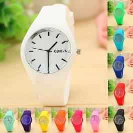 Barevné silikonové hodinky