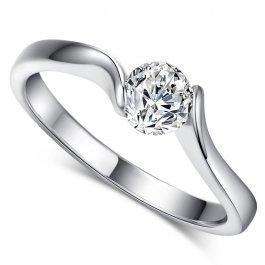 Prsten s kuličkovým kamínkem