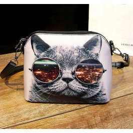Kabelka Kočka s brýlemi