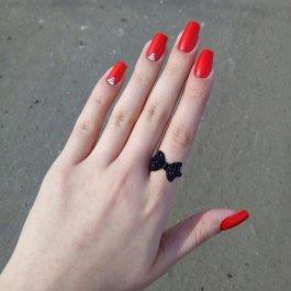 Prsten Černá mašle