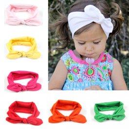 Dětská elastická čelenka s mašlí