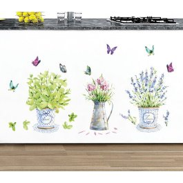 Samolepky na zeď - tři květiny