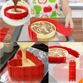 Silikonové formy na dorty - 4 kusy